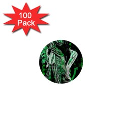 Cyber Angel 1  Mini Buttons (100 Pack)  by Valentinaart