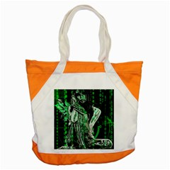 Cyber Angel Accent Tote Bag by Valentinaart