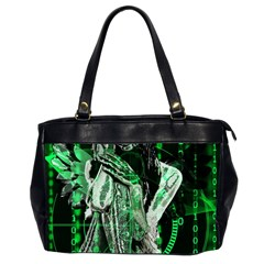 Cyber Angel Office Handbags (2 Sides)  by Valentinaart