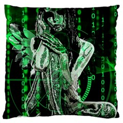 Cyber angel Standard Flano Cushion Case (One Side) by Valentinaart