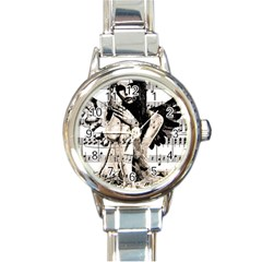Vintage Angel Round Italian Charm Watch by Valentinaart
