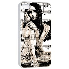 Vintage Angel Apple Iphone 4/4s Seamless Case (white) by Valentinaart
