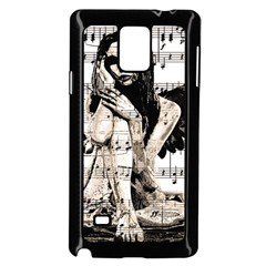 Vintage Angel Samsung Galaxy Note 4 Case (black) by Valentinaart