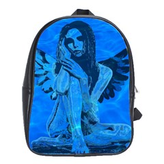 Underwater Angel School Bags(large)  by Valentinaart