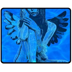 Underwater Angel Fleece Blanket (medium)  by Valentinaart