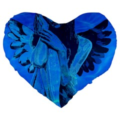 Underwater Angel Large 19  Premium Heart Shape Cushions by Valentinaart