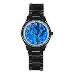 Underwater Angel Stainless Steel Round Watch by Valentinaart