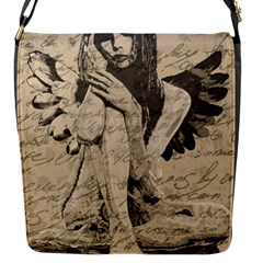 Vintage Angel Flap Messenger Bag (s) by Valentinaart