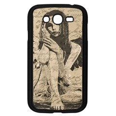 Vintage Angel Samsung Galaxy Grand Duos I9082 Case (black) by Valentinaart