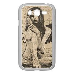 Vintage Angel Samsung Galaxy Grand Duos I9082 Case (white) by Valentinaart