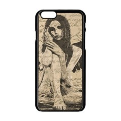 Vintage Angel Apple Iphone 6/6s Black Enamel Case by Valentinaart