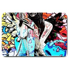 Graffiti Angel Large Doormat  by Valentinaart