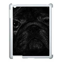 Black Bulldog Apple Ipad 3/4 Case (white) by Valentinaart