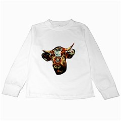 Artistic Cow Kids Long Sleeve T Shirts by Valentinaart