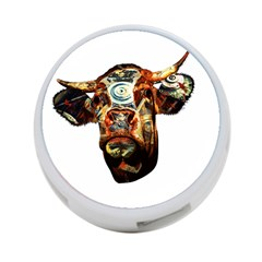 Artistic Cow 4 Port Usb Hub (two Sides)  by Valentinaart