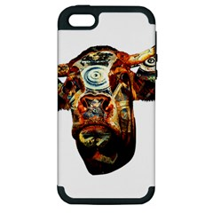 Artistic Cow Apple Iphone 5 Hardshell Case (pc+silicone) by Valentinaart