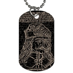 Count Vlad Dracula Dog Tag (two Sides) by Valentinaart