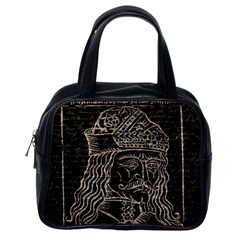 Count Vlad Dracula Classic Handbags (one Side) by Valentinaart
