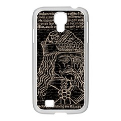 Count Vlad Dracula Samsung Galaxy S4 I9500/ I9505 Case (white) by Valentinaart