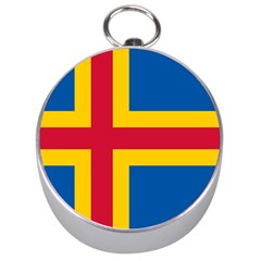 Flag Of Aland Silver Compasses by abbeyz71