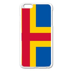 Flag Of Aland Apple Iphone 6 Plus/6s Plus Enamel White Case by abbeyz71