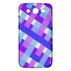 Geometric Plaid Gingham Diagonal Samsung Galaxy Mega 5 8 I9152 Hardshell Case  by Simbadda