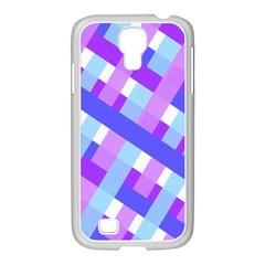 Geometric Plaid Gingham Diagonal Samsung GALAXY S4 I9500/ I9505 Case (White)