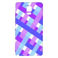 Geometric Plaid Gingham Diagonal Galaxy Note 4 Back Case by Simbadda