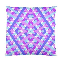 Geometric Gingham Merged Retro Pattern Standard Cushion Case (one Side) by Simbadda