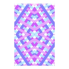 Geometric Gingham Merged Retro Pattern Shower Curtain 48  X 72  (small)  by Simbadda