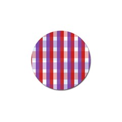 Gingham Pattern Checkered Violet Golf Ball Marker by Simbadda