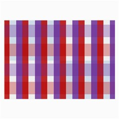 Gingham Pattern Checkered Violet Large Glasses Cloth by Simbadda