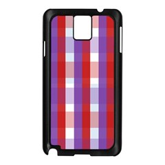 Gingham Pattern Checkered Violet Samsung Galaxy Note 3 N9005 Case (black) by Simbadda