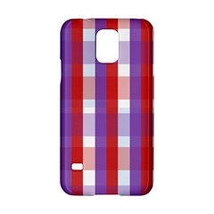 Gingham Pattern Checkered Violet Samsung Galaxy S5 Hardshell Case  by Simbadda