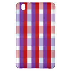 Gingham Pattern Checkered Violet Samsung Galaxy Tab Pro 8 4 Hardshell Case by Simbadda