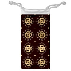 Seamless Ornament Symmetry Lines Jewelry Bag by Simbadda