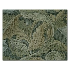 Vintage Background Green Leaves Rectangular Jigsaw Puzzl by Simbadda