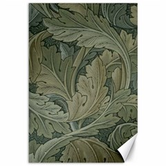 Vintage Background Green Leaves Canvas 12  x 18
