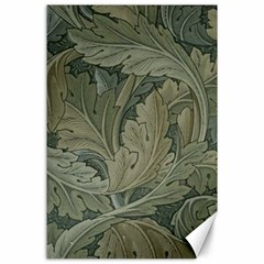Vintage Background Green Leaves Canvas 24  X 36