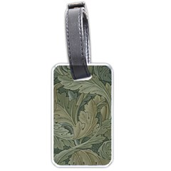 Vintage Background Green Leaves Luggage Tags (one Side)  by Simbadda