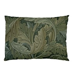 Vintage Background Green Leaves Pillow Case (two Sides) by Simbadda