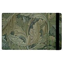 Vintage Background Green Leaves Apple iPad 2 Flip Case