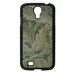 Vintage Background Green Leaves Samsung Galaxy S4 I9500/ I9505 Case (black) by Simbadda