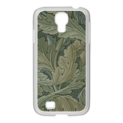 Vintage Background Green Leaves Samsung Galaxy S4 I9500/ I9505 Case (white) by Simbadda