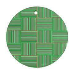 Geometric Pinstripes Shapes Hues Ornament (round)