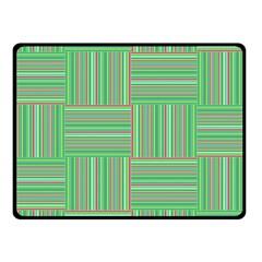 Geometric Pinstripes Shapes Hues Fleece Blanket (small) by Simbadda