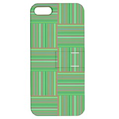 Geometric Pinstripes Shapes Hues Apple Iphone 5 Hardshell Case With Stand by Simbadda