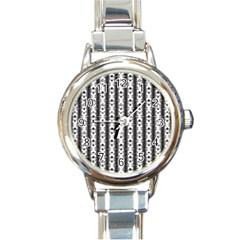 Pattern  Round Italian Charm Watch by Simbadda