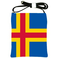Flag Of Aland Shoulder Sling Bags by abbeyz71