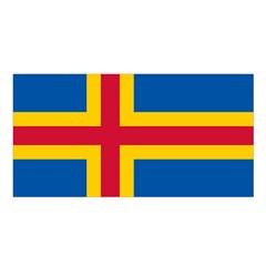 Flag Of Aland Satin Shawl by abbeyz71